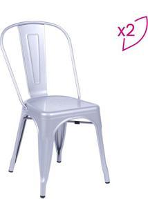 Jogo De Cadeiras De Jantar Retrã´- Cinza- 2Pã§S- Oor Design