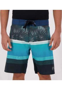 Bermuda Rusty Tropical Blocks Masculina - Masculino-Azul