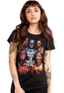 Camiseta Liga Da Justiça Dc Comics Poster Bandup! Feminina - Feminino