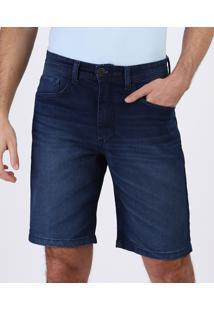 Bermuda Jeans Masculina SlimCasual Azul Escuro