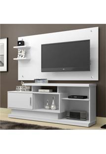 Rack Com Painel Para Tv 47 Polegadas Camaçari Branco 156 Cm