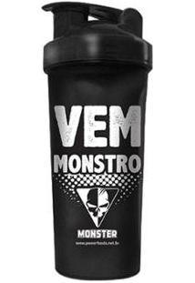 Coqueteleira Preta Vem Monstro - Powerfoods - Unissex