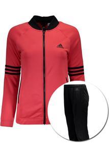 7f5af3e626862 Agasalho Adidas Cosy Feminino Preto E Vermelho