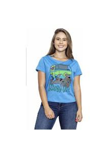 Camiseta Sideway Scooby Doo - Azul