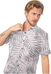 Camisa John John Reta Floral Off-White