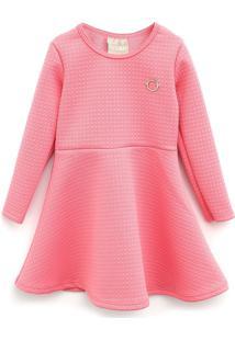 Vestido Milon Infantil Textura Rosa