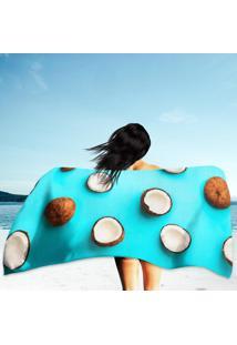 30b3816226 Toalha De Praia   Banho Coconuts On Blue