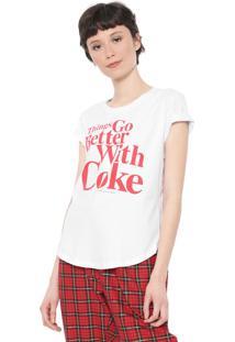 Camiseta Coca-Cola Jeans Things Go Better Branca