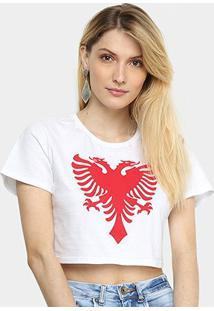 Camiseta Cavalera Cropped Slim Águia Feminina - Feminino
