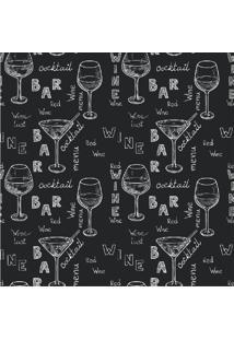 Papel De Parede Adesivo Wine And Cocktail