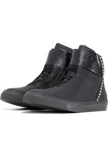 Tãªnis Sneaker K3 Fitness Spini Preto - Preto - Feminino - Dafiti