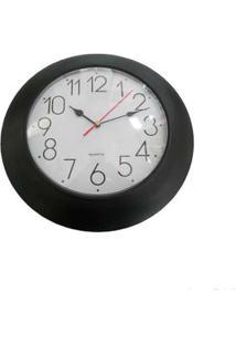 Relógio De Parede Preto Coisas E Coisinhas
