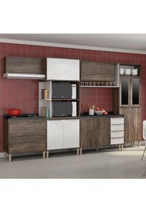 Cozinha Compacta C/Tampo Allure10– Fellicci - Naturalle / Branco