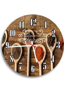 Relógio De Parede Decorativo Talheres E Temperos Único
