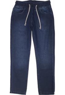 Calça Jeans Moletom Mister Boy Azul - Kanui