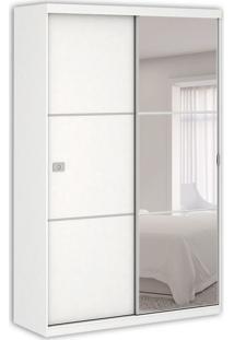 Guarda-Roupa Solteiro Polaris Com Espelho 2Pt 2Gv Branco