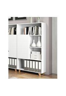 Estante Para Livros Be Mobiliário Aurora 1 Porta Branca