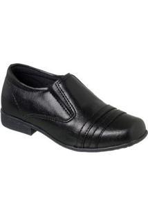 Sapato Social Infantil Ortopasso - Masculino-Preto