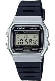 Relógio Masculino Casio Digital F-91Wm-7Adf - Unissex-Preto