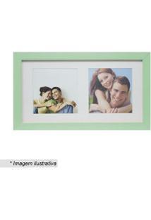 Kapos Painel Multifotos Insta Verde Claro & Branco 15X28X1,5Cm