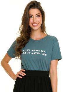 T-Shirt Jogabe Estampada Verde - Verde Militar - Feminino - Algodã£O - Dafiti