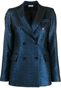 P.A.R.O.S.H. Blazer Com Abotoamento Duplo Metálico - Azul