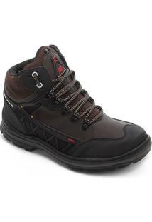 Bota Saxxon Adventure 3800 Masculina - Masculino-Marrom Escuro
