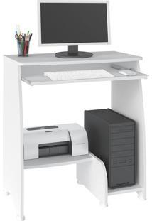 Escrivaninha/Mesa Para Computador Pixel Branco Com 03 Prateleiras - Artely