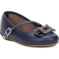fe47c5c1f Sapatos Para Meninas Azul Couro infantil | Shoes4you