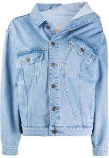 Y/Project Asymmetric Collar Jacket - Azul