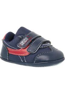 Sapato Bebê Masculino Pingo - Masculino-Marinho+Vermelho