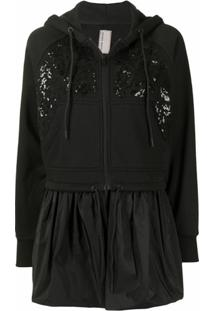 Antonio Marras Floral Sequin Cropped Jacket - Preto