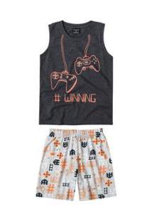 Pijama Bebê Quimby Com Estampa Que Brilha No Escuro Masculino - Masculino-Preto