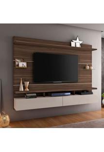 Painel Para Tv Até 60 Polegadas Aquarela Imbuia E Off White