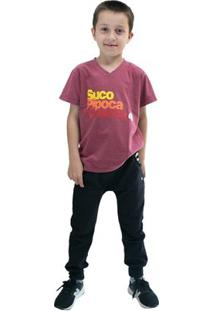 Calça Infantil Comfy Jogger Masculino - Masculino-Preto