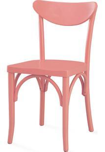 Cadeira Cozinha Amélie Laca Rosa Coral - 44,5X45X81 Cm