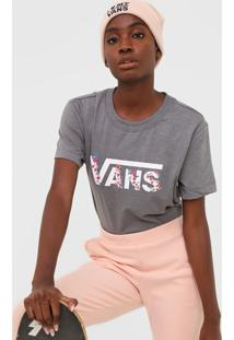 Camiseta Vans Bundlez Boxy Tee Cinza - Cinza - Feminino - Dafiti