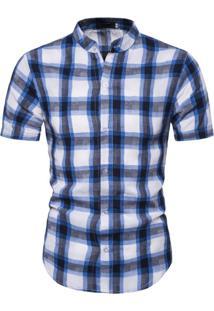 Camisa Xadrez Windsor - Azul