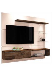"""Painel Para Tv De 55""""Com 3 Prateleiras Ores 1.8-Hb Móveis - Off White / Deck"""
