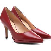 b241eaf036 Scarpin Couro Shoestock Salto Alto Bico Fino