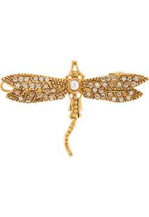 Oscar De La Renta Presilha De Cabelo Dragonfly - Dourado