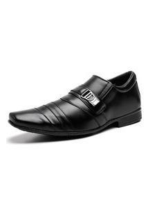 Sapato Social Bico Quadrado Fivela Masculino Dia A Dia