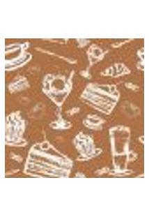 Papel De Parede Autocolante Rolo 0,58 X 3M - Bolo Sorvete Cozinha 285900047