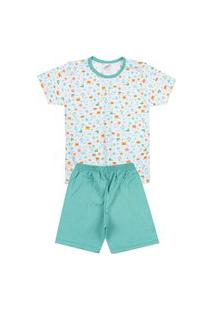 Pijama Bebê Âncora Branco - Kappes