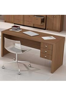 Mesa Para Computador 3 Com Gavetas Me4113 - Tecno Mobili - Amendoa