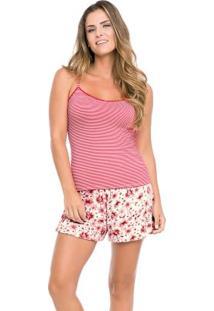 Pijama Rosa Malwee Liberta