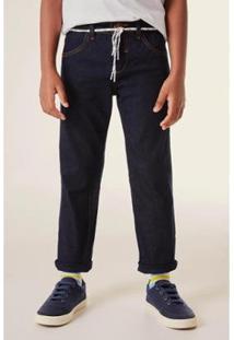 Calça Mini Infantil Jeans Combate Reserva Mini Masculina - Masculino-Azul Petróleo