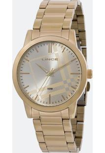 Kit Relógio Feminino Lince Lrg4554L Kv00C1Kx Analógico 5Atm + Conjunto Semijóia