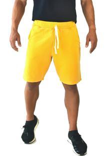 Bermuda Moletom Brohood Amarelo Mostarda