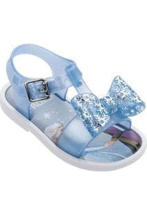 Sandália Bebê Mini Melissa Mar Sandal + Frozen Feminino - Feminino-Branco+Azul